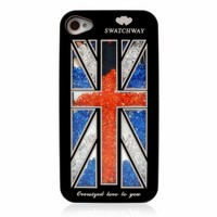 ZLYC UK Flag Rhinestones Case for iPhone 5