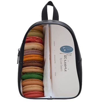 Macarons In Box School Backpack Large