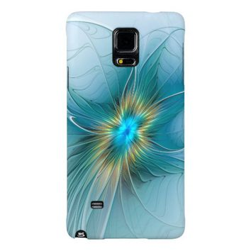 The little Beauty, Abstract Fractal Art with blue Galaxy Note 4 Case
