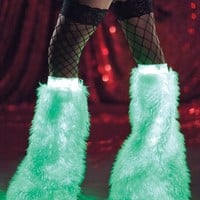 Raveware Glowing Furry Boot Covers : Glow-In-The-Dark Fluffies