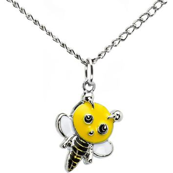 Handcrafted Buzzing Bumble Bee Necklace