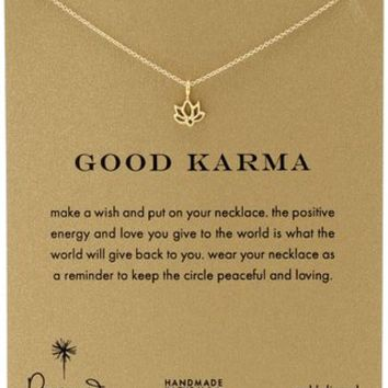 Dogeared Good Karma Happy Lotus Necklace, 16""