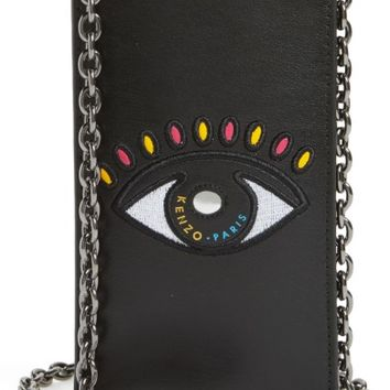 KENZO Icons Cory Eye Leather Phone Case on a Chain | Nordstrom