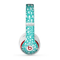 The Teal and White Floral Sprout Skin for the Beats by Dre Studio (2013+ Version) Headphones