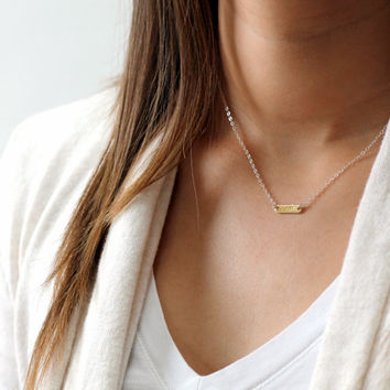 Tiny Delicate Initial Necklace