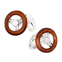 Wooden Steering Wheel Cuff Links - Jan Leslie