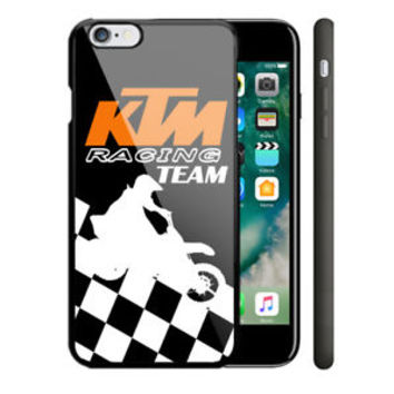 KTM Racing Motorcycle Race iPhone 5 5s 5c 6 6s 7 Plus SE Hard Plastic Case