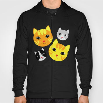 Cat Faces Hoody by Shashira Handmaker