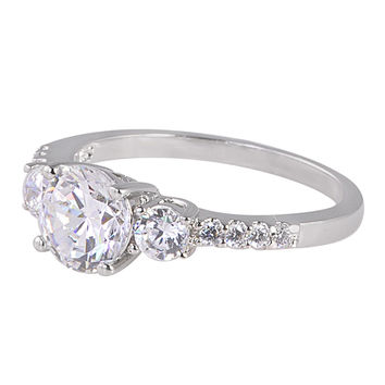 Stunning Womens 1.25ct CZ Ring 925 Sterling Silver Cubic Zirconia
