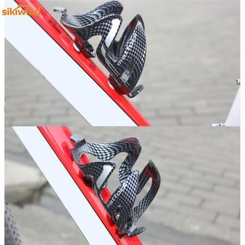 Hot Sale Road Bicycle Water Bottle Holder Carbon Fiber Bike Cycling Glass Drink Water Bottle Stand Rack Cage Bicycle Accessories