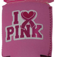 Breast Cancer Fight For The Cure Can Insulator Lot of 14 Cooler I Love Pink