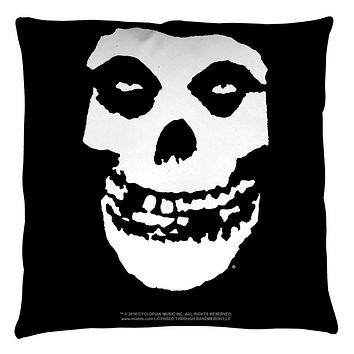 The Misfits Fiend Skull Logo Throw Pillow