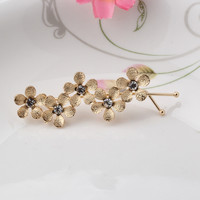 New Five Pcs Flowers Hair Pins Exquisite Girls Hair Accessories Hair Jewelry Silver Gold Sweet Hairpins