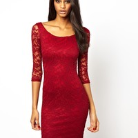 ASOS Bardot Lace Mini Dress