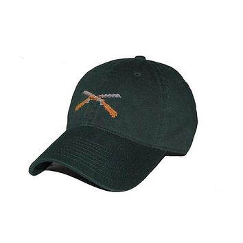 Shotguns Needlepoint Hat in Hunter Green by Smathers & Branson