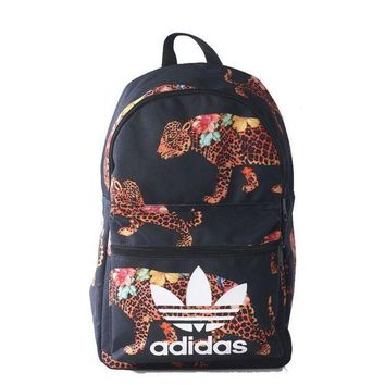 LMFOK3 adidas Originals Backpack In Flower Leopard Print