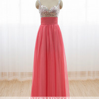 A-line Sweetheart Floor Length Chiffon Prom Dress with Lace-up - Bridesmaid Dresses - Prom Dresses - Long Chiffon Dresses