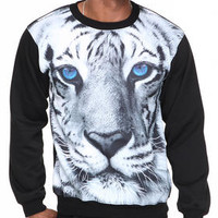 White Tiger Sublimation Crewneck Sweatshirt