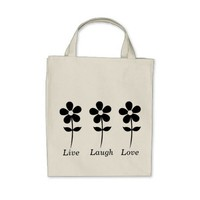 Live Laugh Love Floral Grocery Tote