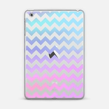 Cotton Candy Chevron Transparent iPad Mini 1/2/3 case by Organic Saturation | Casetify