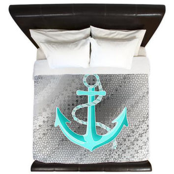 Grey King Duvet Cover - Anchor - Ornaart Design
