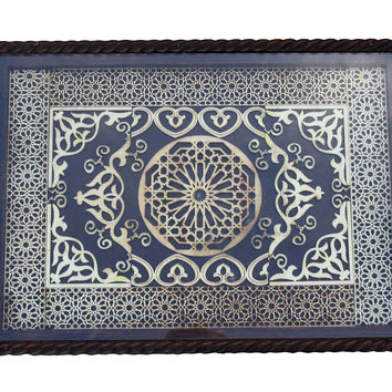Moroccan Tray w/ Arabesque Design