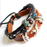 Couple Bracelet Soft Leather Bracelet Wristband by braceletcool