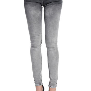 Grey Washed Skinny Jeans