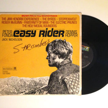 LP Album Easy Rider Music From The Soundtrack Peter Fonda Jack Nicholson Jimi Hendrix Steppenwolf Vinyl Record