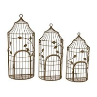 Birdcage Wall Planters (Set-3)