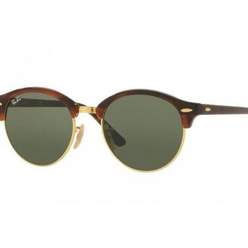 Ray Ban sunglasses RB4246 CLUBROUND havana red green 990