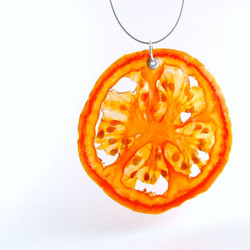 Tomato Necklace - Real Fruit Jewelry - Vegetable Jewelry - Fruit Jewelry