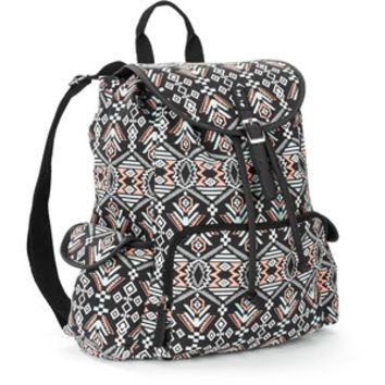 Walmart: Boundaries Printed Canvas Buckle Flap Backpack