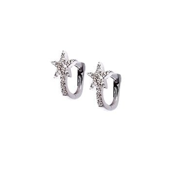 Diamond Star Huggie Earrings