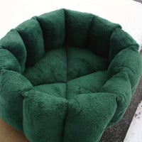 Cat bed, green bed, pet bed, dog bed, machine washable, dryer safe, deep bed, kitty bed, puppy bed, kitten,