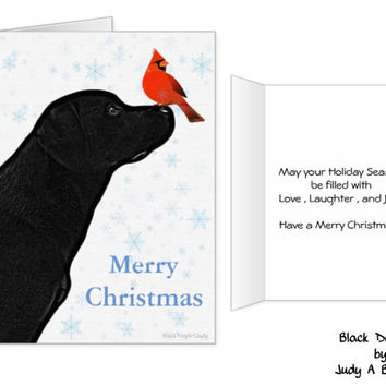 Black Lab Christmas Card - Labrador Holiday Card - Christmas In July - Dog Christmas Card 6 - Black Lab Holiday card - Black Dog Christmas