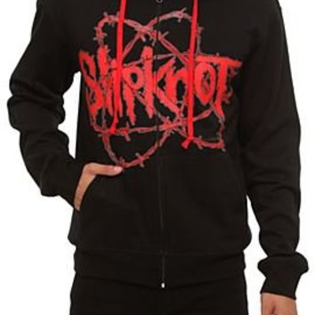 Slipknot Barbed Wire Logo Zip Hoodie - 194274