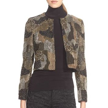 Women's Alice + Olivia 'Kidman' Cropped Beaded Jacket,