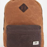 Vans Old Skool Plus Waxed Canvas Backpack Brown One Size For Men 25711040001