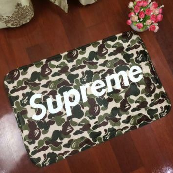 Camouflage Supreme Anti-skid Alphabet Bathroom Carpet Living Room Bedroom Mat