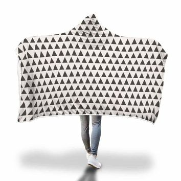 Geometric Triangle Pattern Hooded Blanket by Bare Culture Apparel