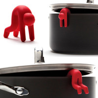 Monkey Business Lid Sid Pot Steam Vent Pack of 2 Red & White