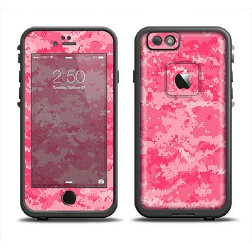The Pink Digital Camouflage Apple iPhone 6 LifeProof Fre Case Skin Set