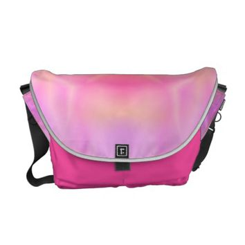 Pink Flare Courier Bag