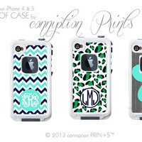 Monogrammed Lifeproof Case iPhone 4/4s or 5 by conniptionPRINTS
