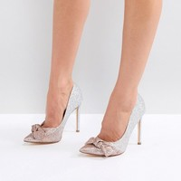 River Island Ombre Glitter Heeled Pumps at asos.com