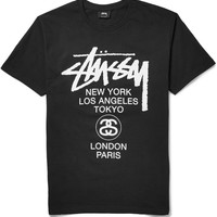 Stüssy - World Tour Printed Cotton-Jersey T-Shirt | MR PORTER