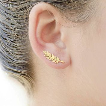 Leaf Ear Climbers Ear Crawlers - Gold, Silver Color