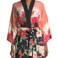 Christine Designs Gypsy Rose Short Silk Robe and Matching Items