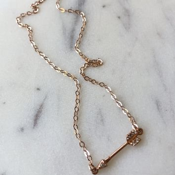 Limited Edition Rose Gold Arrow Necklace